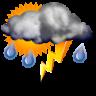 Intervalos nubosos con tormenta